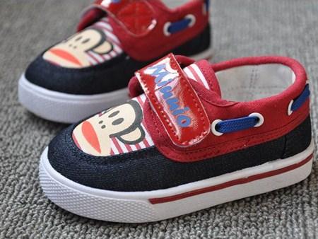 รองเท้าผ้าใบ PAUL FRANK Kid สีแดง (5คู่/แพ็ค)