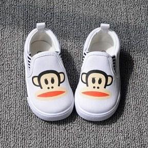 รองเท้าผ้าใบ PAUL FRANK เนิดๆ สีขาว (5คู่/แพ็ค)