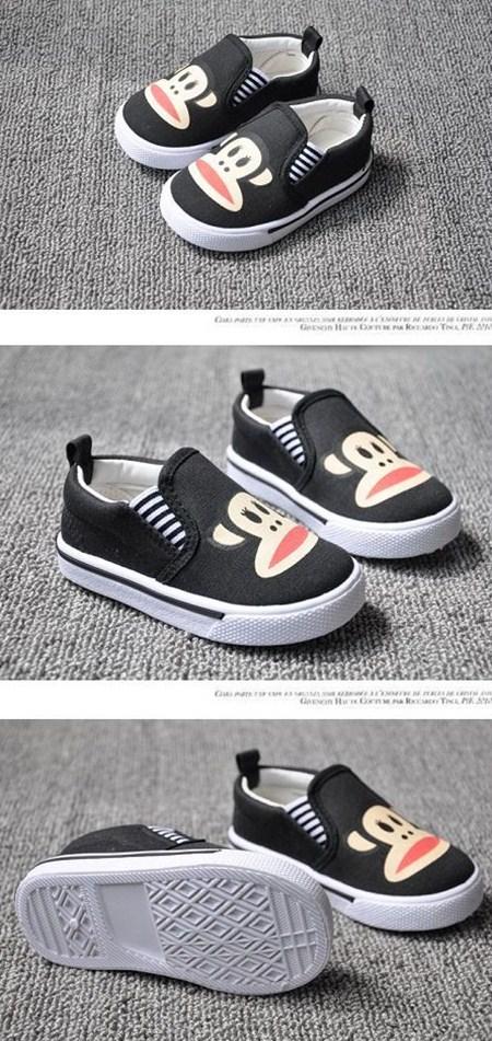 รองเท้าผ้าใบ PAUL FRANK เนิดๆ สีดำ (5คู่/แพ็ค)