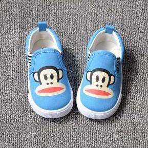 รองเท้าผ้าใบ PAUL FRANK เนิดๆ สีฟ้า (5คู่/แพ็ค)