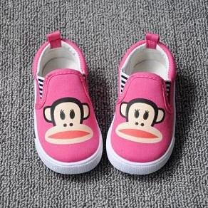 รองเท้าผ้าใบ PAUL FRANK เนิดๆ สีชมพู (5คู่/แพ็ค)