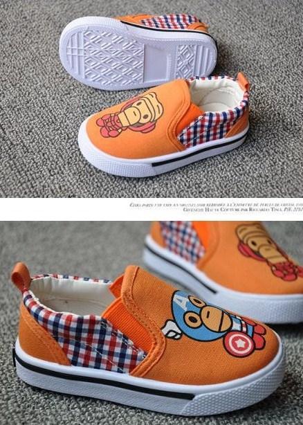 รองเท้าผ้าใบ PAUL AVENGER สีส้ม (5คู่/แพ็ค)