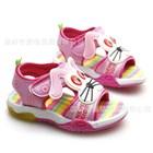 รองเท้ารัดส้นน้องหมาเท้าไฟ-สีชมพู-(6คู่/แพ็ค)