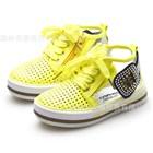 รองเท้าผ้าใบโปรงๆ-สไตล์พังค์-สีเหลือง-(6คู่/แพ็ค)