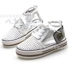 รองเท้าผ้าใบโปรงๆ-สไตล์พังค์-สีขาว-(6คู่/แพ็ค)