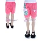 กางเกงขาสั้นกระเป๋าผูกโบว์-สีชมพู-(5size/pack)