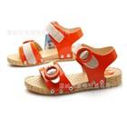 รองเท้ารัดส้นลายเข็มขัด-สีส้ม-(6คู่/แพ็ค)