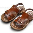 รองเท้ารัดส้นหนังเรียบหรู-สีน้ำตาล-(6คู่/แพ็ค)