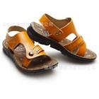 รองเท้ารัดส้นหนังเรียบหรู-สีน้ำตาลส้ม-(6คู่/แพ็ค)