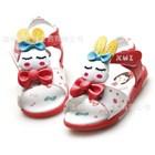 รองเท้ารัดส้น-Rabbit-Sleep-สีแดง-(5คู่/แพ็ค)