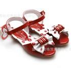 รองเท้าโบว์จุดกิ๊บเก๋-สีส้มอิฐ-(5คู่/แพ็ค)