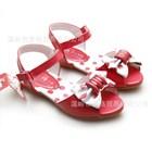 รองเท้าโบว์จุดกิ๊บเก๋-สีชมพู-(5คู่/แพ็ค)
