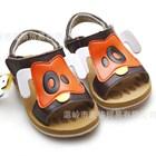 รองเท้าหนังรัดส้นเจ้าตูบตาดำ-สีส้ม-(5คู่/แพ็ค)