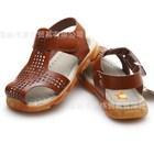 รองเท้ารันส้นหนังสไตล์โรมัน-สีน้ำตาล-A-(5คู่/แพ็ค)