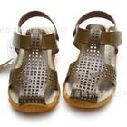 รองเท้ารันส้นหนังสไตล์โรมัน-สีน้ำตาล-B-(5คู่/แพ็ค)
