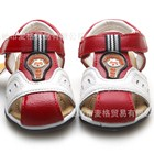 รองเท้ารันส้นหนัง-Hello-Panda-สีแดง-(6คู่/แพ็ค)