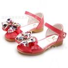 รองเท้าคุณหนูโบว์ดอกไม้-สีชมพูเข้ม-(5คู่/แพ็ค)