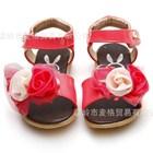 รองเท้าคุณหนูดอกไม้เพื่อนเจ้าสาว-สีแดง-(5คู่/แพ็ค)