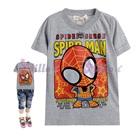 เสื้อยืดแขนสั้น-Spider-Man-สีเทา-(5size/pack)