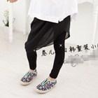 กางเกงกระโปรงเฉียง-สีดำ-(5ตัว/pack)