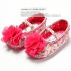รองเท้าเด็กดอกไม้หวานแหว๋ว-(6-คู่/pack)