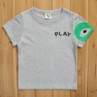 เสื้อยืดแขนสั้นPLAY-Comme-หัวใจสีเขียว(5size/pack)
