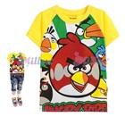 เสื้อยืดแขนสั้น-Angry-Bird-สีเหลือง(6size/pack)