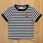 เสื้อยืดแขนสั้น-PLAY-Comme-มงกุฏ-สีดำ-(5size/pack)