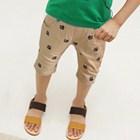 กางเกงขาสามส่วนรอยเท้าเจ้าตูบ-สีกากี-(5ตัว/pack)