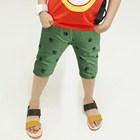 กางเกงขาสามส่วนรอยเท้าเจ้าตูบ-สีเขียว-(5ตัว/pack)