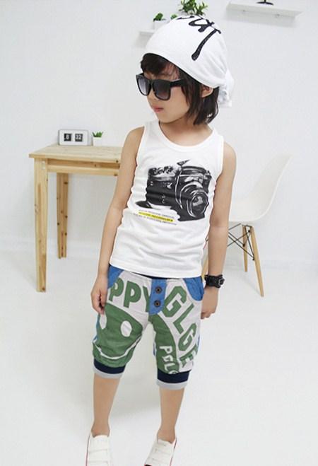 กางเกงขาสามส่วนลูกครึ่ง SMILE สีเขียว (5ตัว/pack)