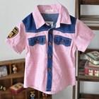 เสื้อเชิ้ตแขนสั้นลูกครึ่งยีนส์-สีชมพู-(5ตัว/pack)