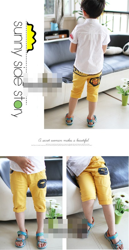กางเกงขาสามส่วน T MILO สีเหลือง (5ตัว/pack)