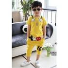 ชุดเสื้อกางเกงมิกกี้โอบกอด-สีเหลือง-(5-ตัว/pack)