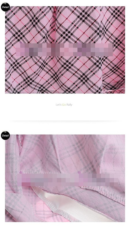 ชุดเดรสนักเรียนอินเตอร์ลายสก๊อต สีชมพู(5 ตัว/pack)