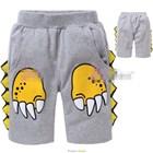 กางเกงขาสามส่วนอุ้งเท้าไดโนเสาร์-สีเทา-(6ตัว/pack)