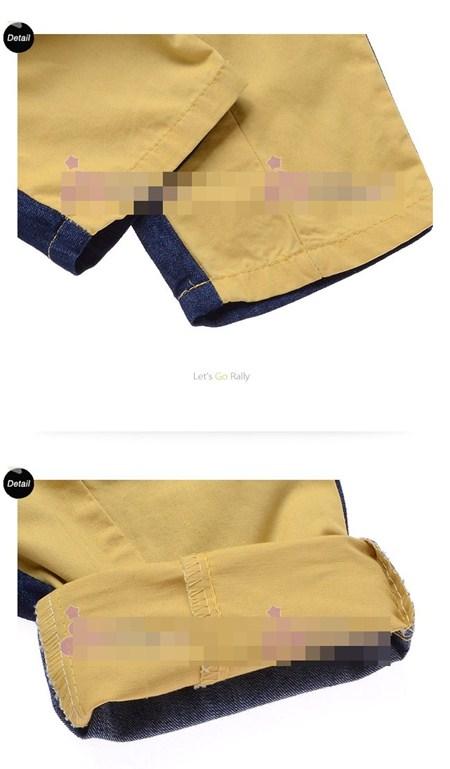 กางเกงลูกครึ่งยีนส์เป้าเฉียง (5ตัว/pack)