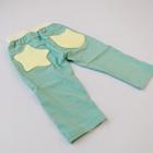 กางเกงขาสามส่วน-สีเขียวดาวสีเหลือง-(5ตัว/pack)