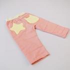 กางเกงขาสามส่วน-สีชมพูดาวสีเหลือง-(5ตัว/pack)