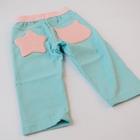 กางเกงขาสามส่วน-สีฟ้าดาวสีชมพู(5ตัว/pack)