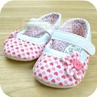 รองเท้าเด็กหัวใจน้อยกับดอกไม้-(6-คู่/pack)
