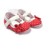 รองเท้าเด็ก-Polka-dot-สีแดง-(6-คู่/pack)