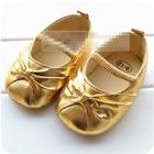 รองเท้าเด็ก-Big-Bow-สีทอง-(6-คู่/pack)