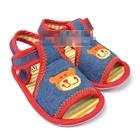 รองเท้าเด็กหมียิ้มแฉ่ง-สีแดง-(6-คู่/pack)