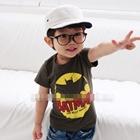 เสื้อแขนสั้น-BATMAN-ฮีโร่-สีน้ำตาล-(5ตัว/pack)
