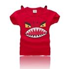เสื้อแขนสั้นปีศาจฟันแหลม-สีแดง-(5ตัว/pack)