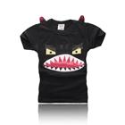 เสื้อแขนสั้นปีศาจฟันแหลม-สีดำ-(5ตัว/pack)