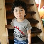 เสื้อแขนสั้นไดโนเสาร์-สีเทา-(5ตัว/pack)