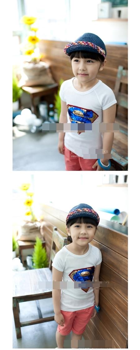 เสื้อแขนสั้น SUPERMAN บริ๊งค์ๆ สีขาว (5ตัว/pack)