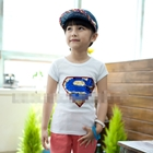 เสื้อแขนสั้น-SUPERMAN-บริ๊งค์ๆ-สีขาว-(5ตัว/pack)